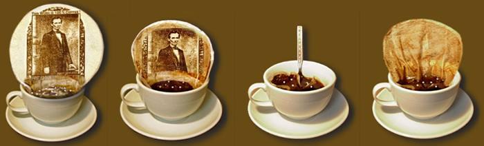 Cafegrafia, la memoria nei filtri di caffè